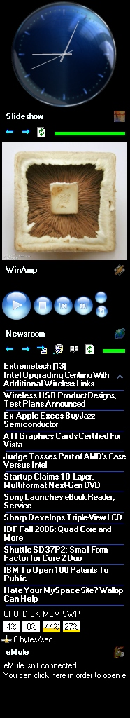 Desktop Sidebar screenshot